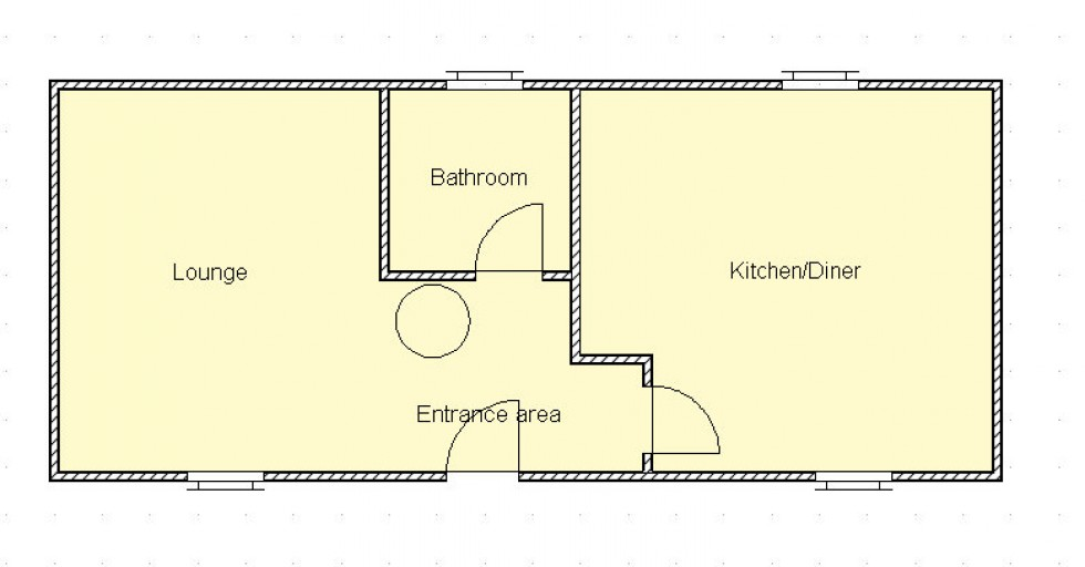 Floorplan for Rubha Dubh, Grimsay, Isle of North Uist